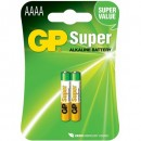 Batteri GP Ultra Alkaline AAAA 25A/LR61 2st/fpk