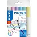 Märkpenna Pilot Pintor Pastell  6st/fpk