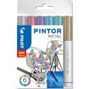 Märkpenna Pilot Pintor Metall 6st/fpk