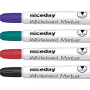 Whiteboardpenna Niceday Rund Spets 4-Set