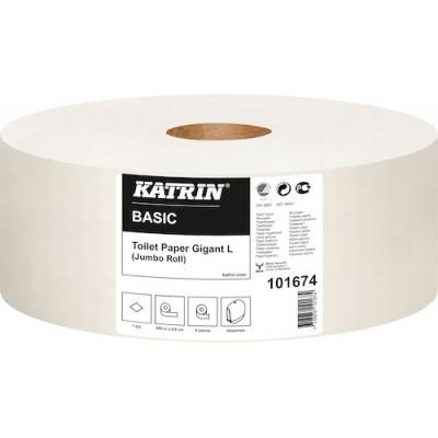 Katrin Toalettpapper Basic Gigant L 6rullar/kart(Miljö)
