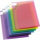 Dubbel Plastmapp A4 Sorterade Pastellfärger 12st/fpk (Miljö)