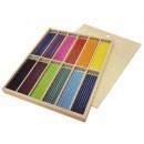 Färgpennor i Trälåda med Skjutlock 216st/fpk