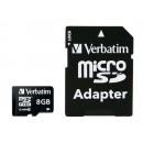 Verbatim Premium MicroSDHC Kort med Adapter 8GB