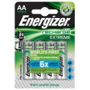 Batteri Energizer Uppladdningsbara AA 4st/fpk (Miljö)