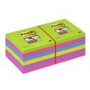 Post-it Super Sticky Rainbow 76x76mm 12st/fpk (Miljö)