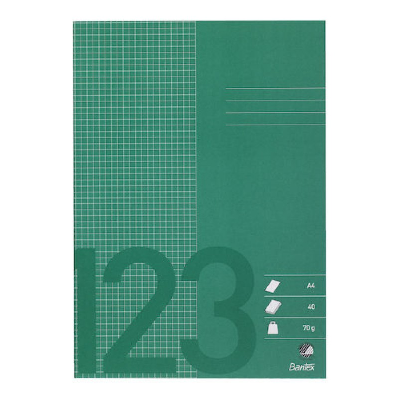 Räknehäfte Bantex A4 Rutat 5x5mm Grön 10st fpk (Miljö) hos ... b4383937b3cc3