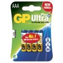 Batteri GP Ultra Plus AAA/LR03 4st/fpk (Miljö)