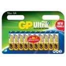 Batteri GP Ultra Plus Alkaline AA 10st/fpk (Miljö)