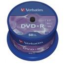 DVD+R Verbatim 16x Cakebox 50st/fpk