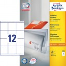 Universaletikett Zweckform Avery 3661 70x67,7mm 1200st/fpk (Miljö)