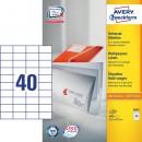 Universaletikett Zweckform Avery 3651 52,5x29,7mm 4000st/fpk (Miljö)
