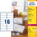 Adressetikett Avery Recycled LR7162 99,6x33,9mm 1600st/fpk (Miljö)