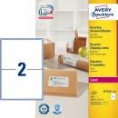 Adressetikett Avery Recycled LR7168 199,6x143,5mm 200st/fpk (Miljö)