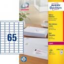 Adressetikett Avery L7651 38,1x21,2mm 6500st/fpk (Miljö)