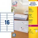 Adressetikett Avery L7162 99,1x33,9mm 1600st/fpk (Miljö)