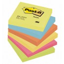 Post-it Energy Rainbow 76x76mm 6st/fpk (Miljö)
