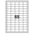 Universaletikett Recycled 38x21,2mm Vit 6500st/fpk (Miljö)
