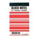 Block Notes A7 Linjerat 50/Blad 10st/fpk