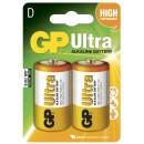 Batteri GP Ultra Alkaline 13AU/LR20 Storlek D 2st/fpk
