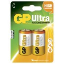 Batteri GP Ultra Alkaline 14AU/LR14 Storlek C 2st/fpk