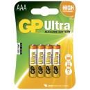 Batteri GP Ultra Alkaline AAA 24AU/LR03 4st/fpk