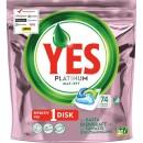 Maskindiskmedel YES Platinum Tablett Rosa Bandet 74st/fpk