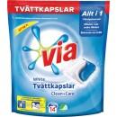 Tvättmedel Via Tvättkapslar White 14st/fpk (Miljö)