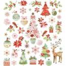 Stickers romantisk jul 43st/fp