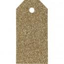 Manillamärken glittriga guld 5x10cm 15st/fp