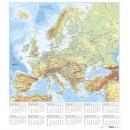 Väggblad med Europakarta 700x780mm (Miljö)