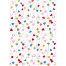 Presentpapper Swirly Hearts 57cmx154m