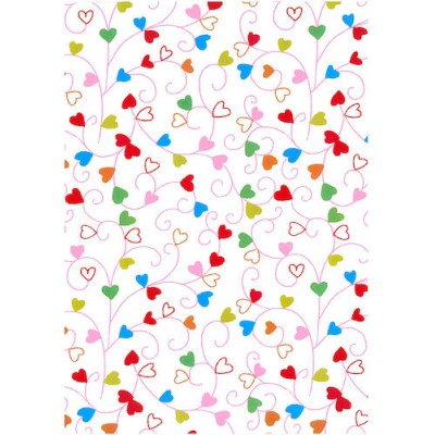 Presentpapper Swirly Hearts 57cmx154m