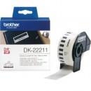Etikett Brother DK22211 Löpande 29mmx15m, Plastfilm