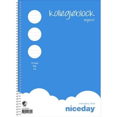 Kollegieblock Niceday A4 linjerat 10st/fp