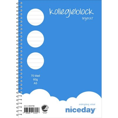 Kollegieblock Niceday A5 10st/fp