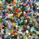 Glaspärlor Mixade färger och Storlekar 1kg